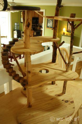 Poptie for Wooden cat tree designs