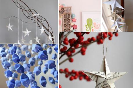 クリスマス 折り紙 折り紙 立体 星 : poptie.jp